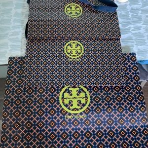 Tory Burch 3 shopping bags total of 3. 2 med, 1 lg